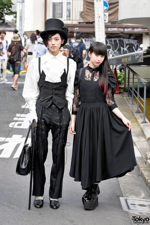 Dark Harajuku Styles W Dip Dye Top Hat Atelier Boz