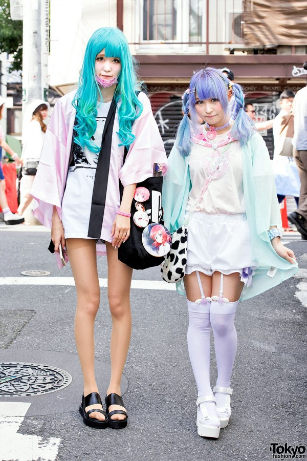 Harajuku Girls w/ Ghost in The Shell, Love Live!, Itazura & Zzz… Fashion