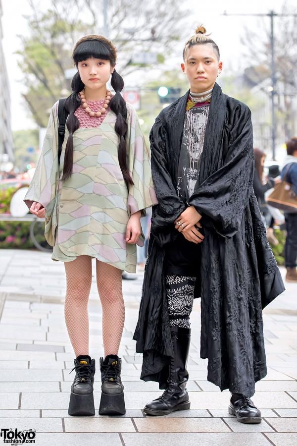 Harajuku Duo in Kimono Jackets, Resale Fashion & Platform Boots