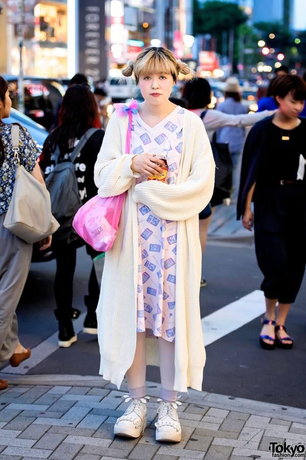 Long Kastane Sweater, Vintage Nordstrom Dress & Tokyo Bopper in Harajuku