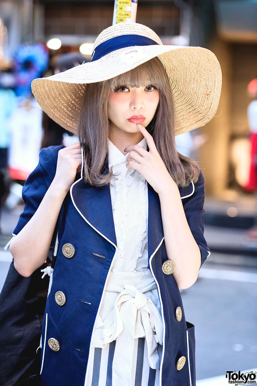 Swankiss Saaya In Harajuku W Wide Brim Hat Kinji Blazer