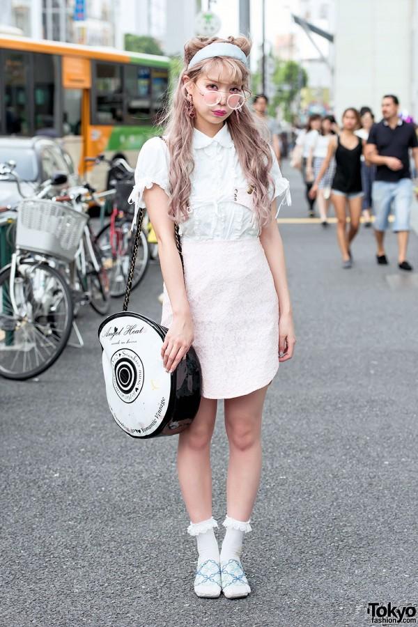 Saaya Hayashida w/ Swankiss Fashion & Pastel Hair in Harajuku