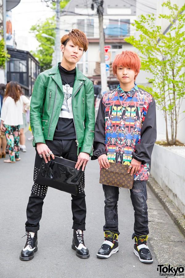 Harajuku Guys in Christian Dada, Plastic Tokyo,  Anrealage & Air Jordans