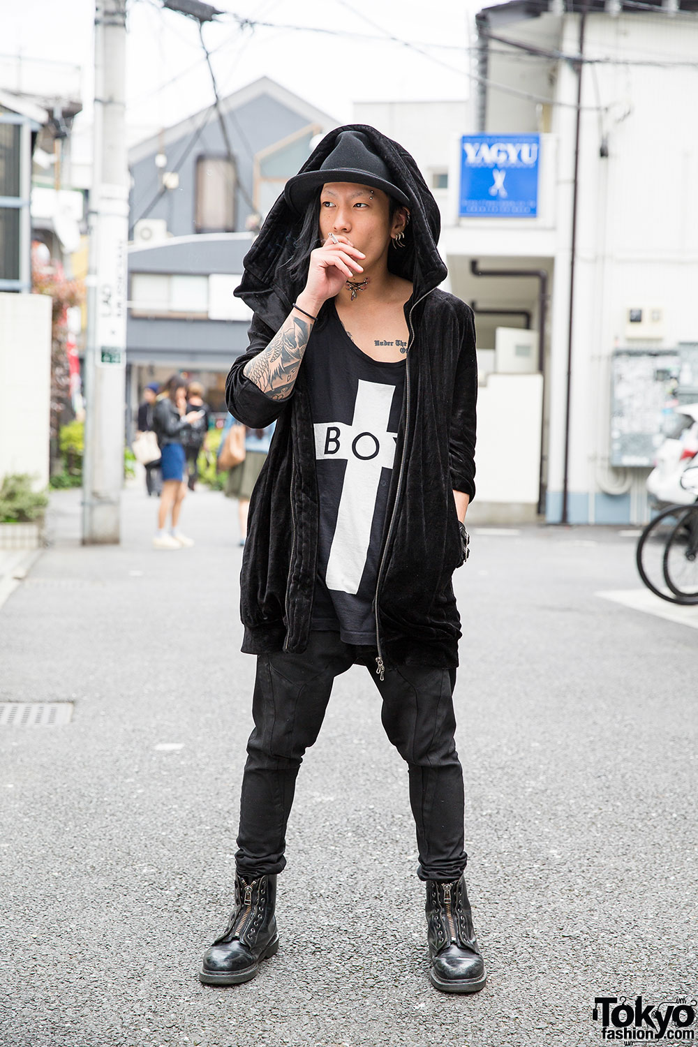 Harajuku Guy 39 S Piercings Tattoos W Julius Boy London Oz Abstract Dr Martens