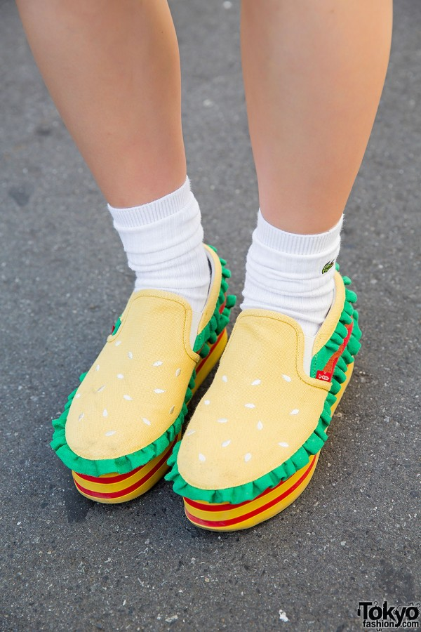Candy Stripper Burger Shoes