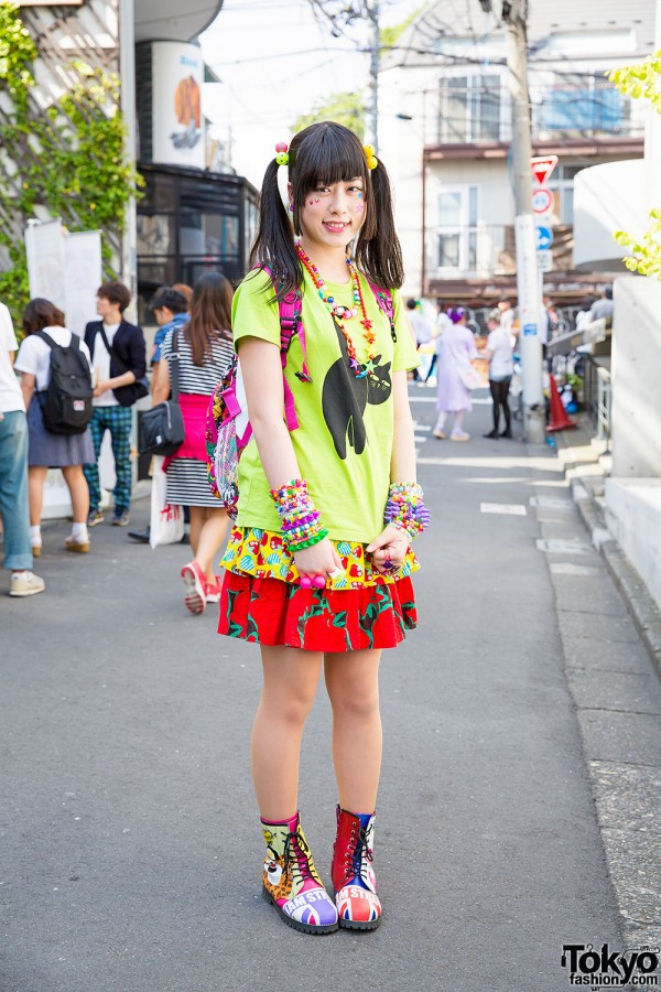 Harajuku Girl in Twin Tails & Colorful Fashion by Grand Ground, Jam & Claire's