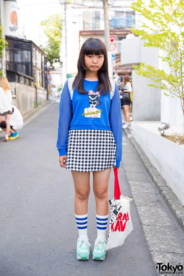 "Harajuku Kawaii Tote Bag, WEGO ""Rockabilly Girl"" Top, Swimmer & Gingham"