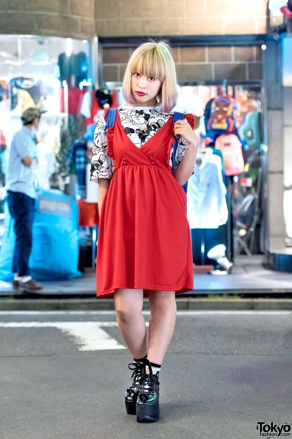 Red Nadia Harajuku Dress