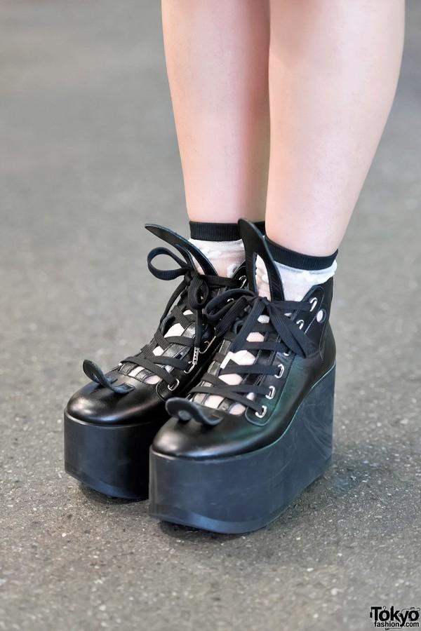 Tokyo Bopper Platforms & Sheer Socks