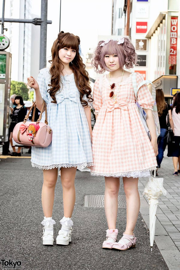Harajuku Girls in Angelic Pretty Gingham Lolita Fashion