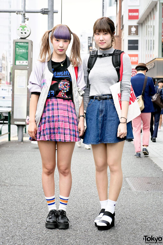 Japanese gyaru schoolgirls with tan skin and makeup showing - 2 3