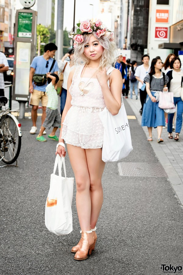 Harajuku Girl in Flower Crown, Dolly & Molly, Jeannie Nitro & Ankle Boots