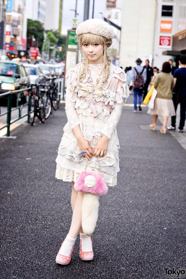 Unicorn Heels, Doll Parts Necklace, AHCAHCUM.muchacha & Nozomi Ishiguro in Harajuku