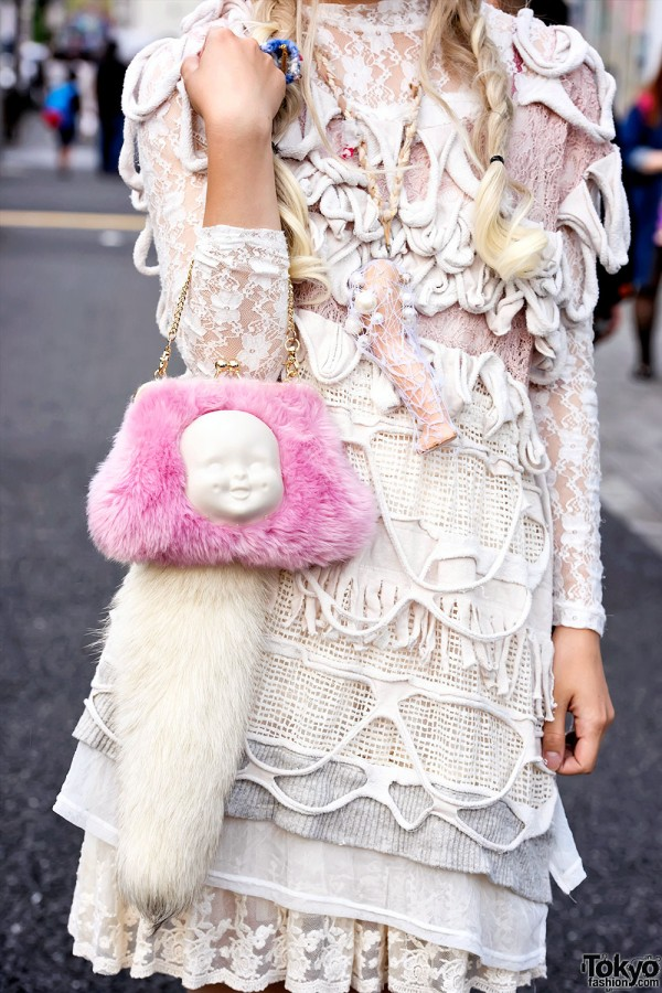 Ahcahcum Muchacha Furry Face Bag