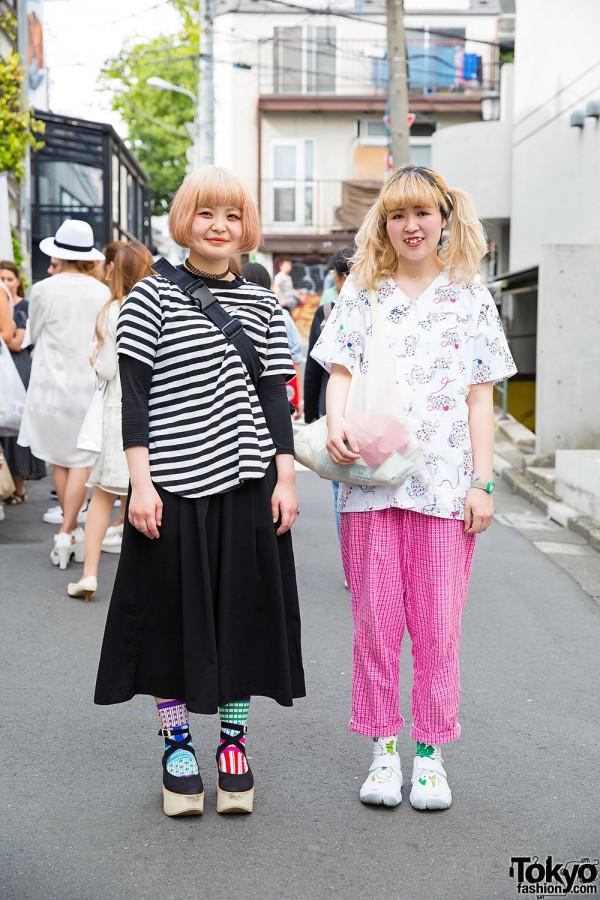 Harajuku Girls w/ Bow Bag, Colorful Socks, Tokyo Bopper & Tabi Shoes