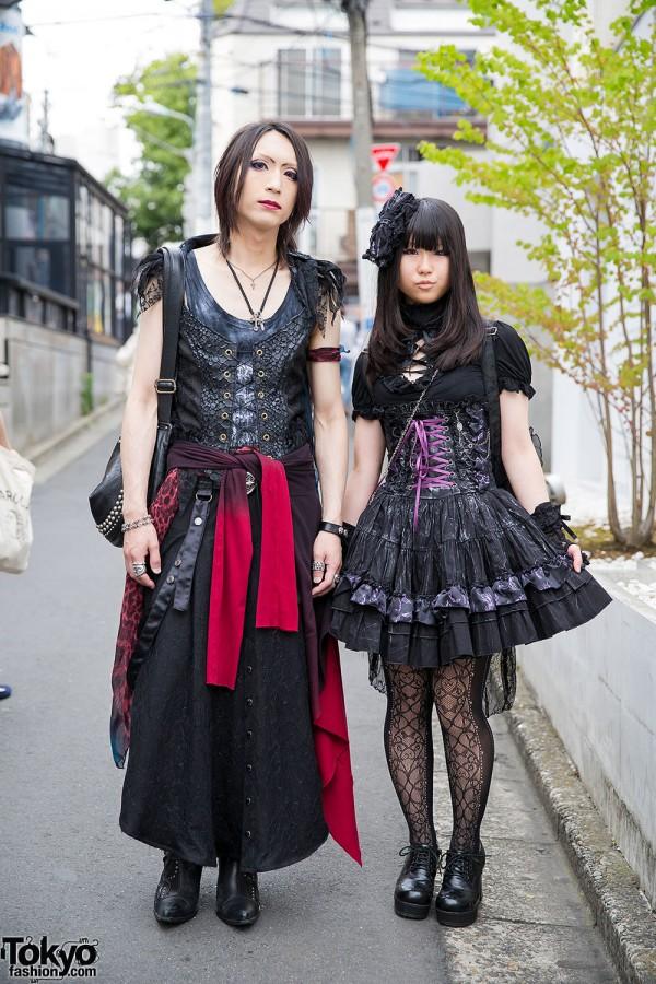 Gothic Duo in Harajuku w/ h.NAOTO Corsets, Chrome Hearts, New Rock & Yosuke