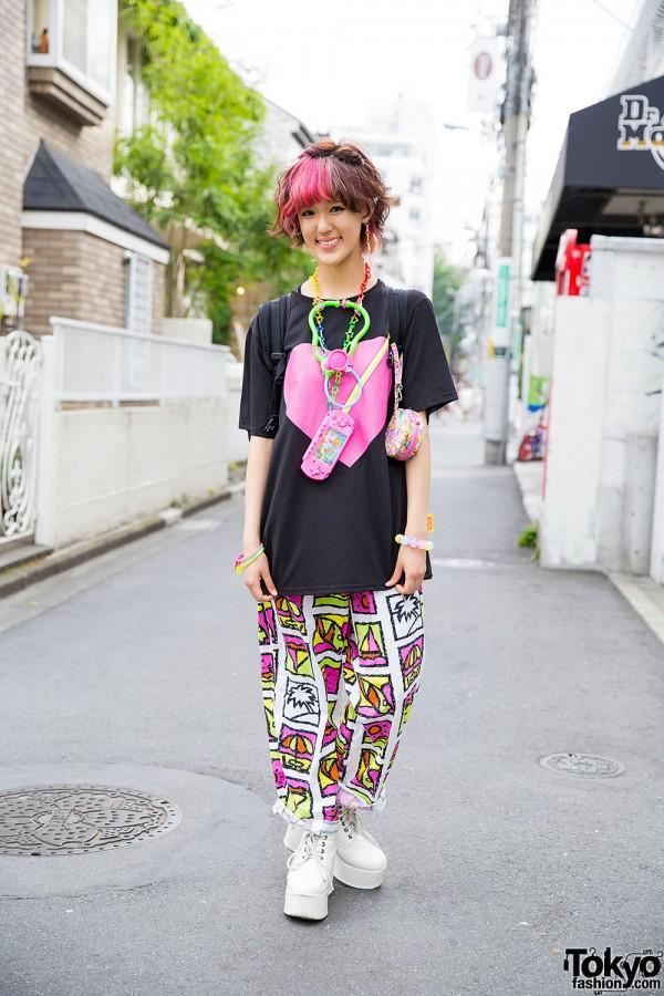 """6%DOKIDOKI """"Arigatou"""" Earring & Fun Colorful Fashion in Harajuku"""