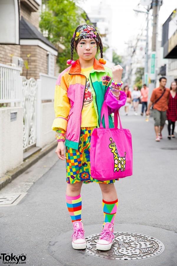 Colorful Harajuku Decora Street Style w/ 6%DOKIDOKI, Daiso & Jams World