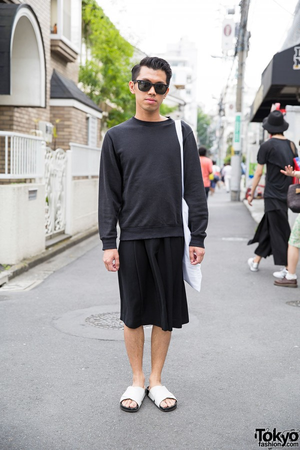 Black & White Harajuku Style w/ Uniqlo, Mad Tea Party & Sam Edelman Sandals