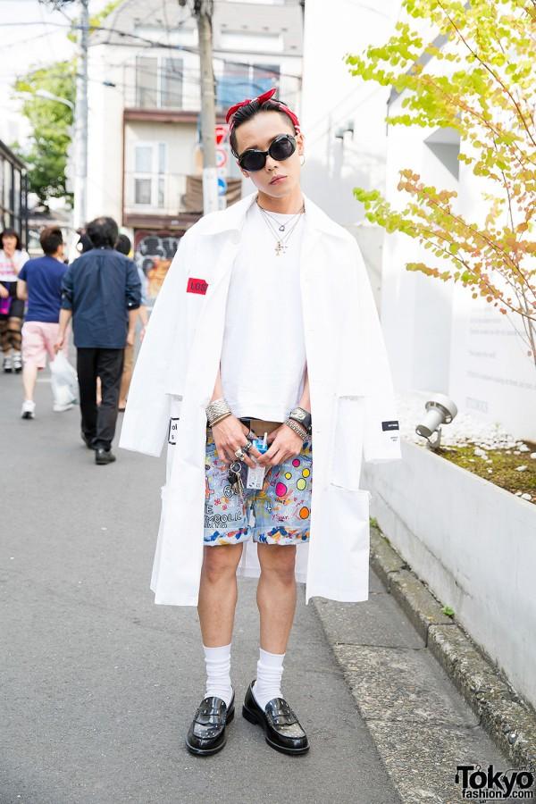 Hyein Seo & The Symbolic Tokyo w/ Loafers & Bandana in Harajuku