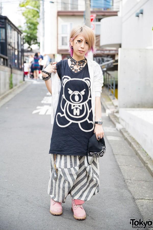 Dip Dye Hair & Nail Art w/ Chrome Hearts & Hysteric Glamour in Harajuku