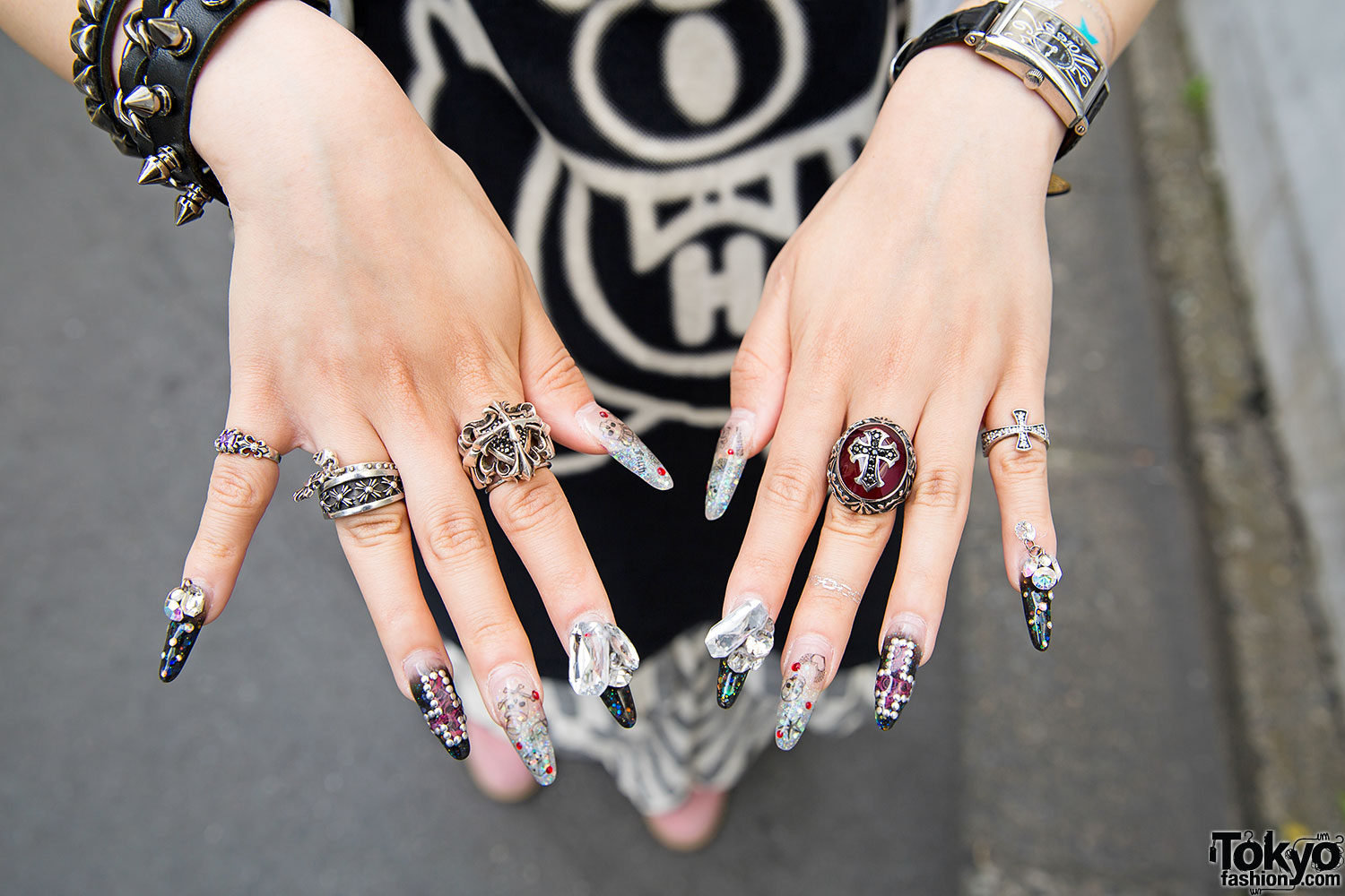 Dip Dye Hair Amp Nail Art W Chrome Hearts Amp Hysteric