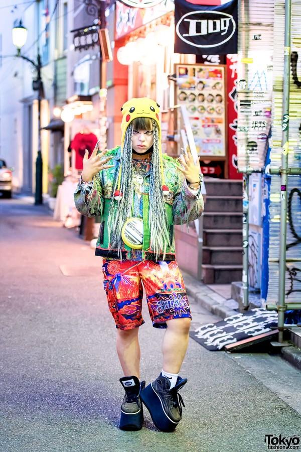 Dog Harajuku Fashion, Fangophilia Rings, MYOB NYC Bag & Pikachu
