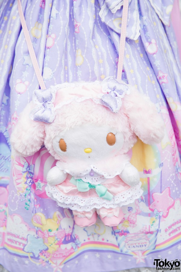 My Melody plush bag