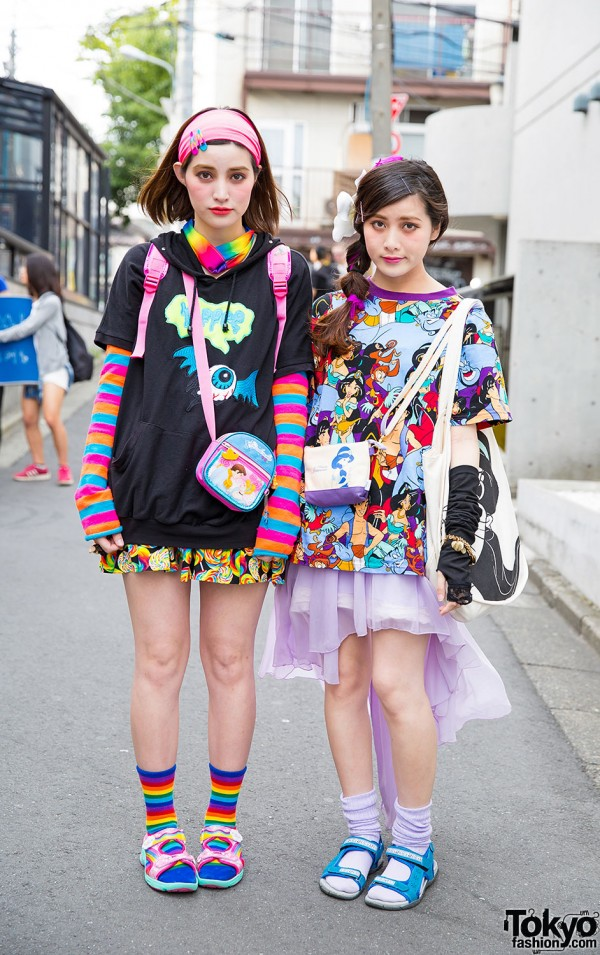 Harajuku Sisters w/ Colorful Fashion, Cute Accessories, Disney, Spinns & WEGO