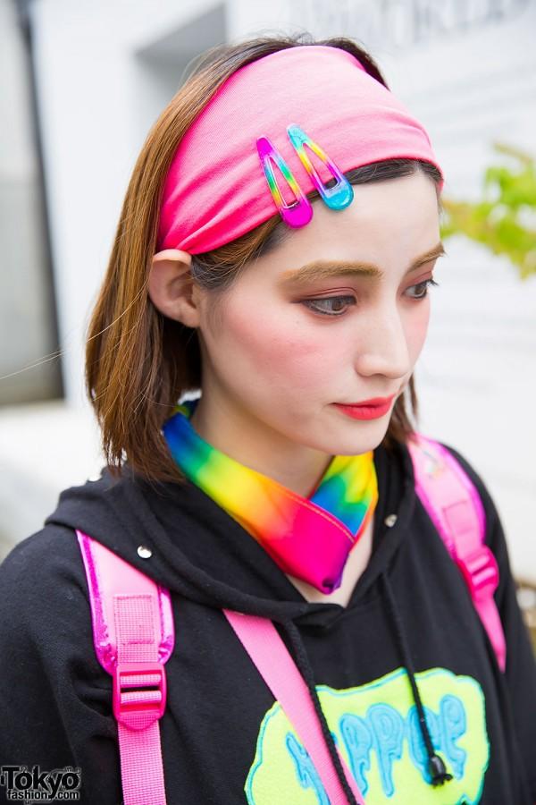 Pink Headband Colorful Hair Pins Tokyo Fashion News