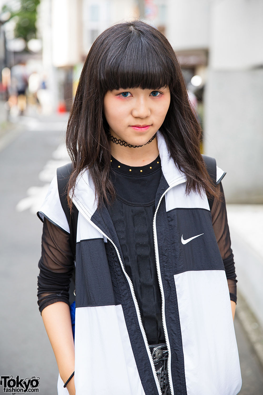 0a56bbf87f1 Harajuku Girl in Glad News Harness Shorts