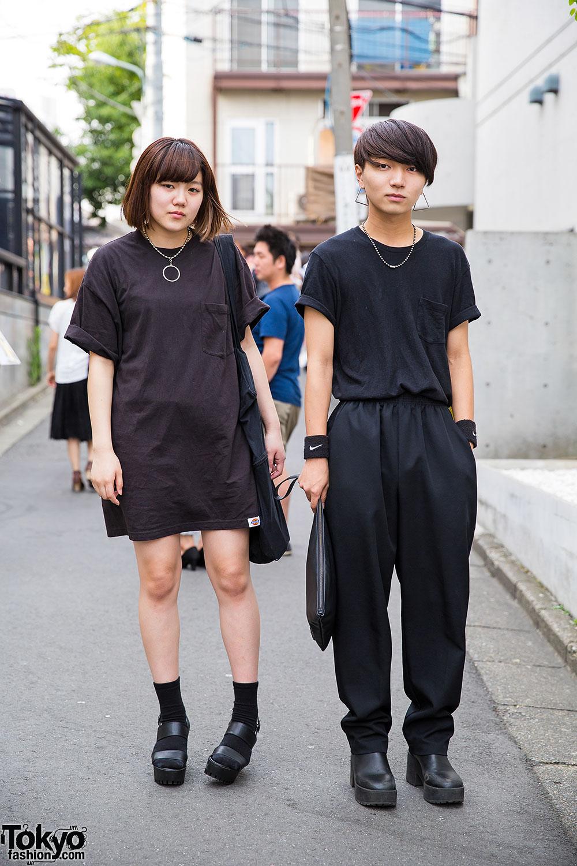 Harajuku Duo In All Black W Shonen Junk Ikumi Q Pot