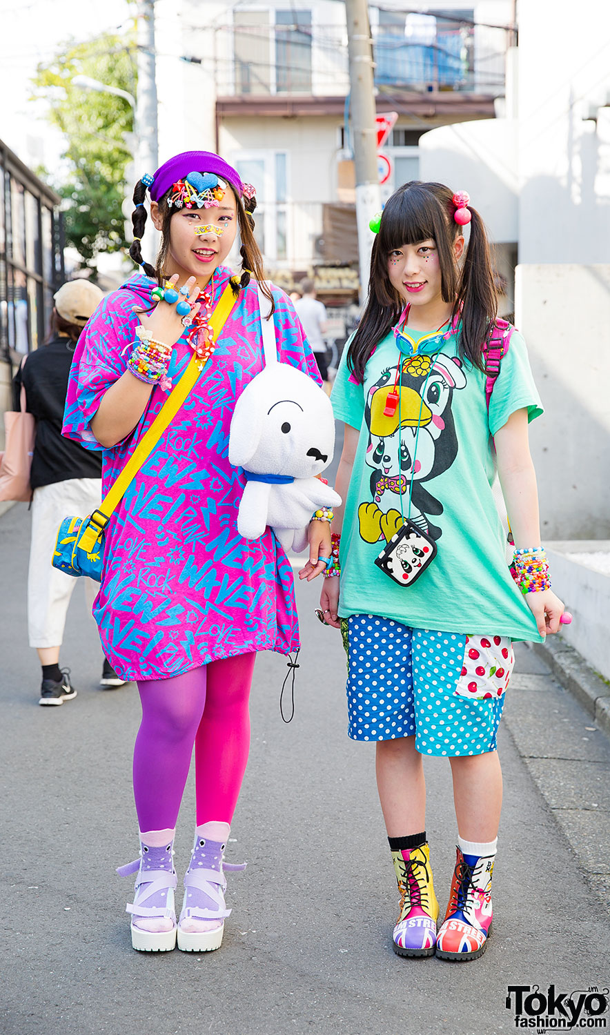 Girl Fashion Magazine: Harajuku Girls In Colorful Fashion W/ Super Lovers