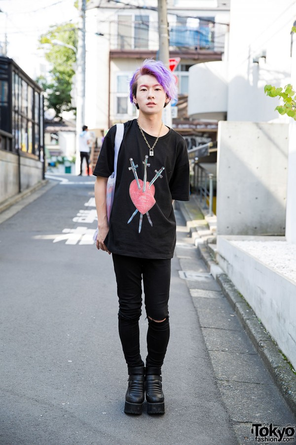 Harajuku Guy w/ Purple Hair, Bubbles, MYOB, Opening Ceremony & Ankle Boots