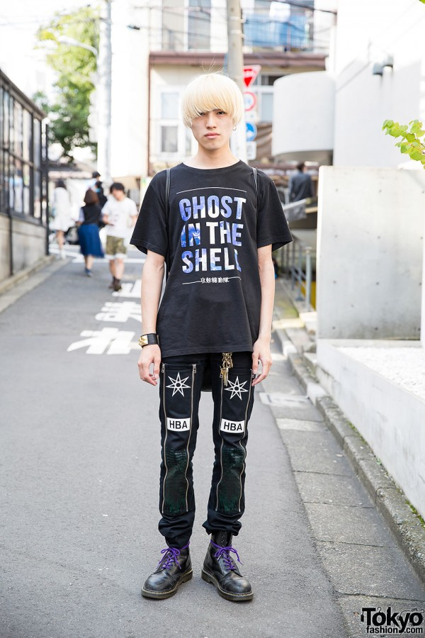Ghost in the Shell Tee, Hood by Air, UNIF & Dr. Martens in Harajuku