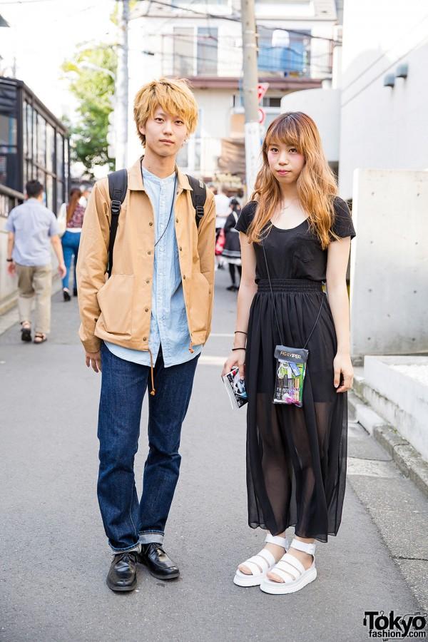 Harajuku Duo Wearing Uniqlo, American Apparel, Dr. Martens & Anna Sui