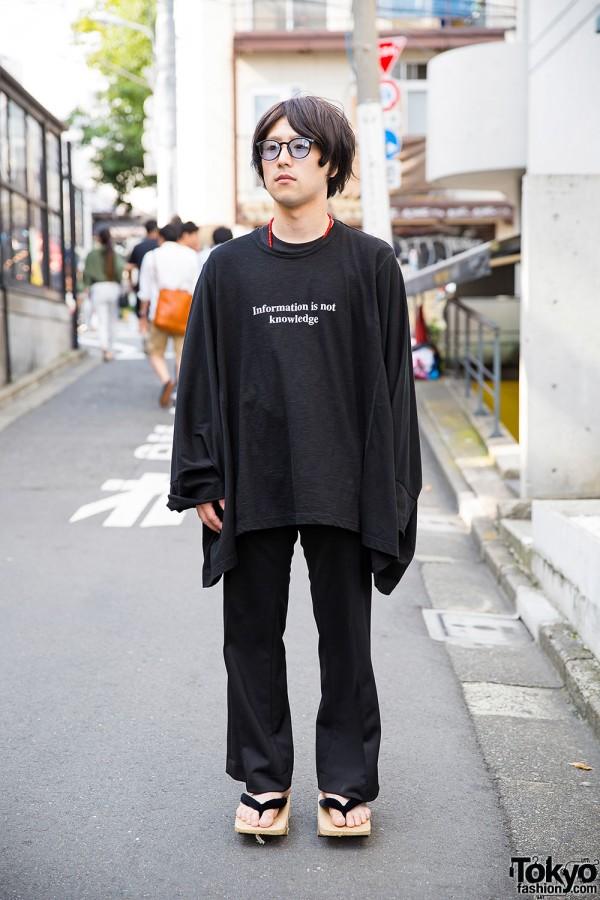 Harajuku Guy in Ganryu & Y-3 by Yohji Yamamoto