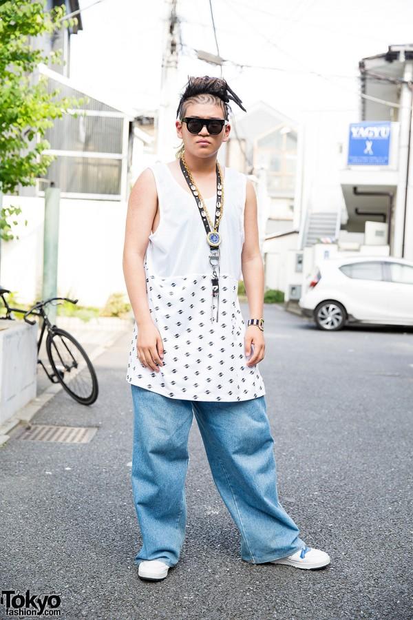Hip Hop Fan in Gypsy Sport & Walter Van Bierendonck in Harajuku