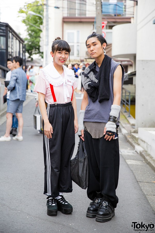 Harajuku Duo in Platforms w/ Comme des Garcons, Tokyo Bopper & Adidas