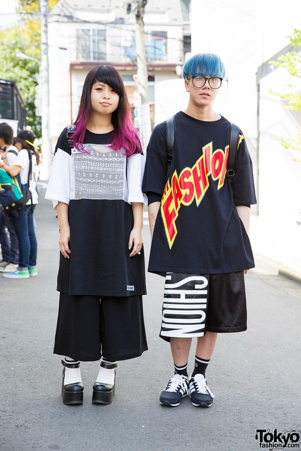 Harajuku Duo's Colorful Hair & Oversized Fashion w/ Joyrich, Doss Around & MCM Items