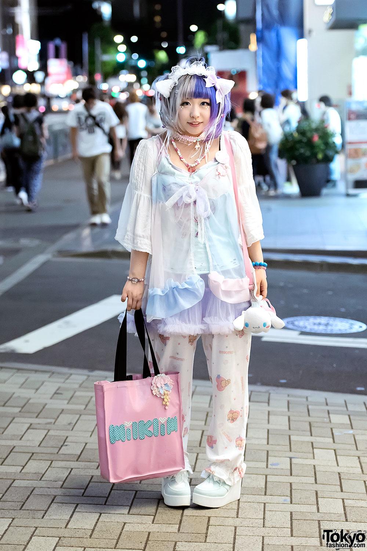 Cat Ears Cinnamoroll Sheer Pastel Fashion By Milklim Listen Flavor Sakura1tama In Harajuku
