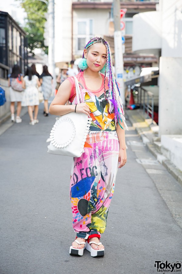 Harajuku Girl in Nozomi Ishiguro, Tokyo Bopper & Jeffrey Campbell Platforms