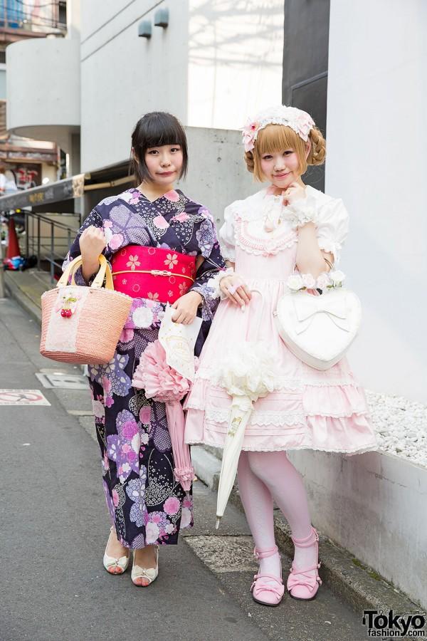 Harajuku Girls in Yukata & Lolita Fashion w/ Baby The Stars Shine Bright & Angelic Pretty