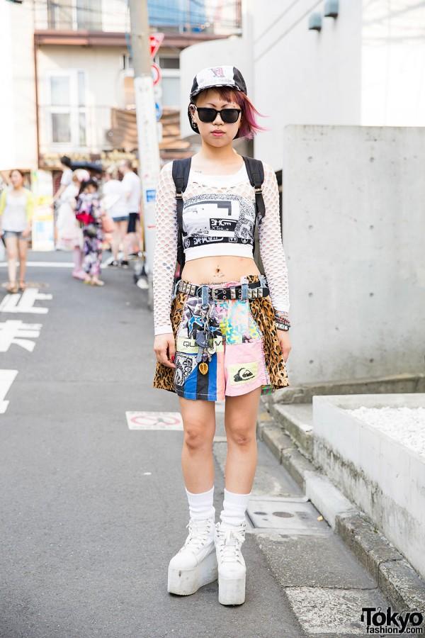 Harajuku Girl w/ Piercings, Tattoos, Pink Hair, DVMVGE, Bunkaya Zakkaten & YRU