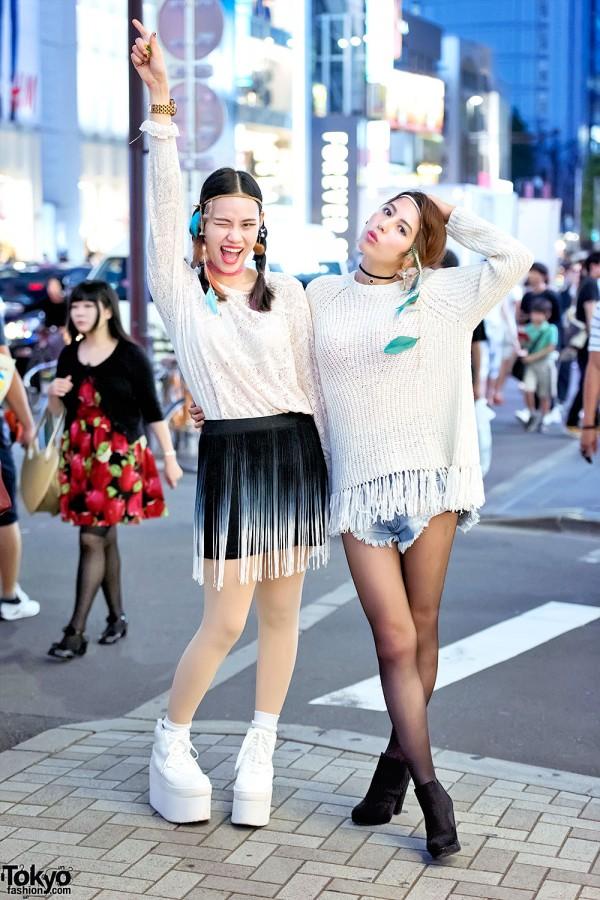 Harajuku Girls w/ The Ivy Tokyo Earrings, Headbands, One Teaspoon & PUNYUS