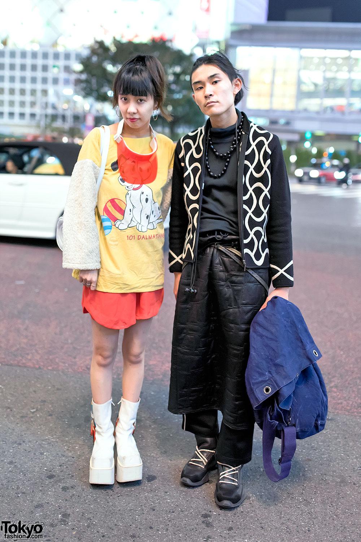 Rocket Platform Boots, Rick Owens, 101 Dalmatians Remake Top & Vintage Fashion in Shibuya