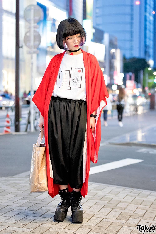 Harajuku Girl W Kimono Jacket Comme Des Garcons Amp Purple