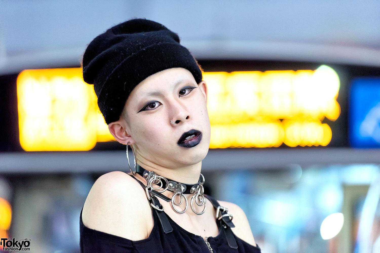 Dark Tokyo Street Style W Black Lipstick Fetis Amp Demonia