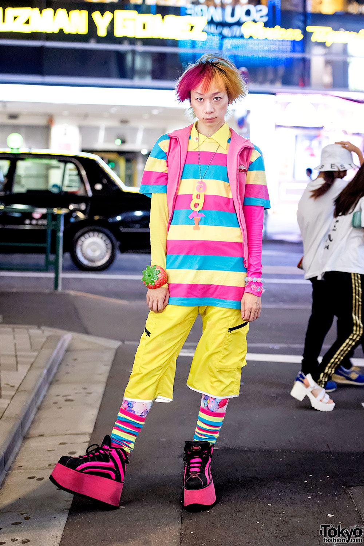Harajuku Guy S Kawaii Street Style W Candy Stripper 6