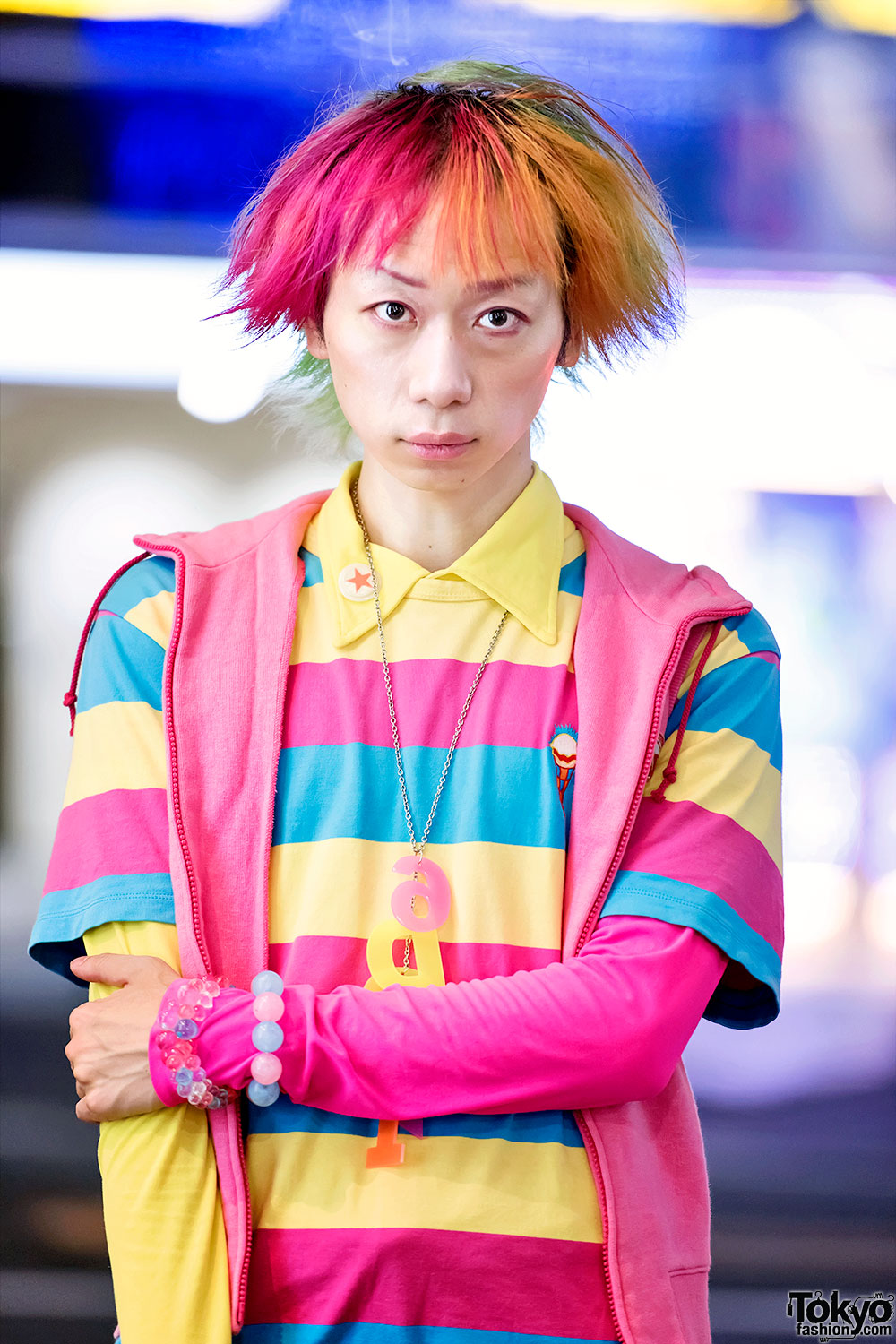 Harajuku Guy S Kawaii Street Style W Candy Stripper 6